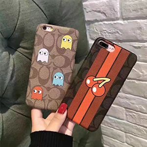coach iphone8plusケース パックマン