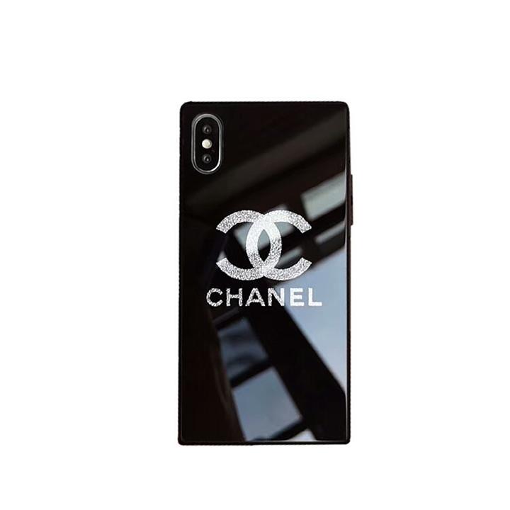iphoneXsMAXシャネルケース 可愛い 鏡面